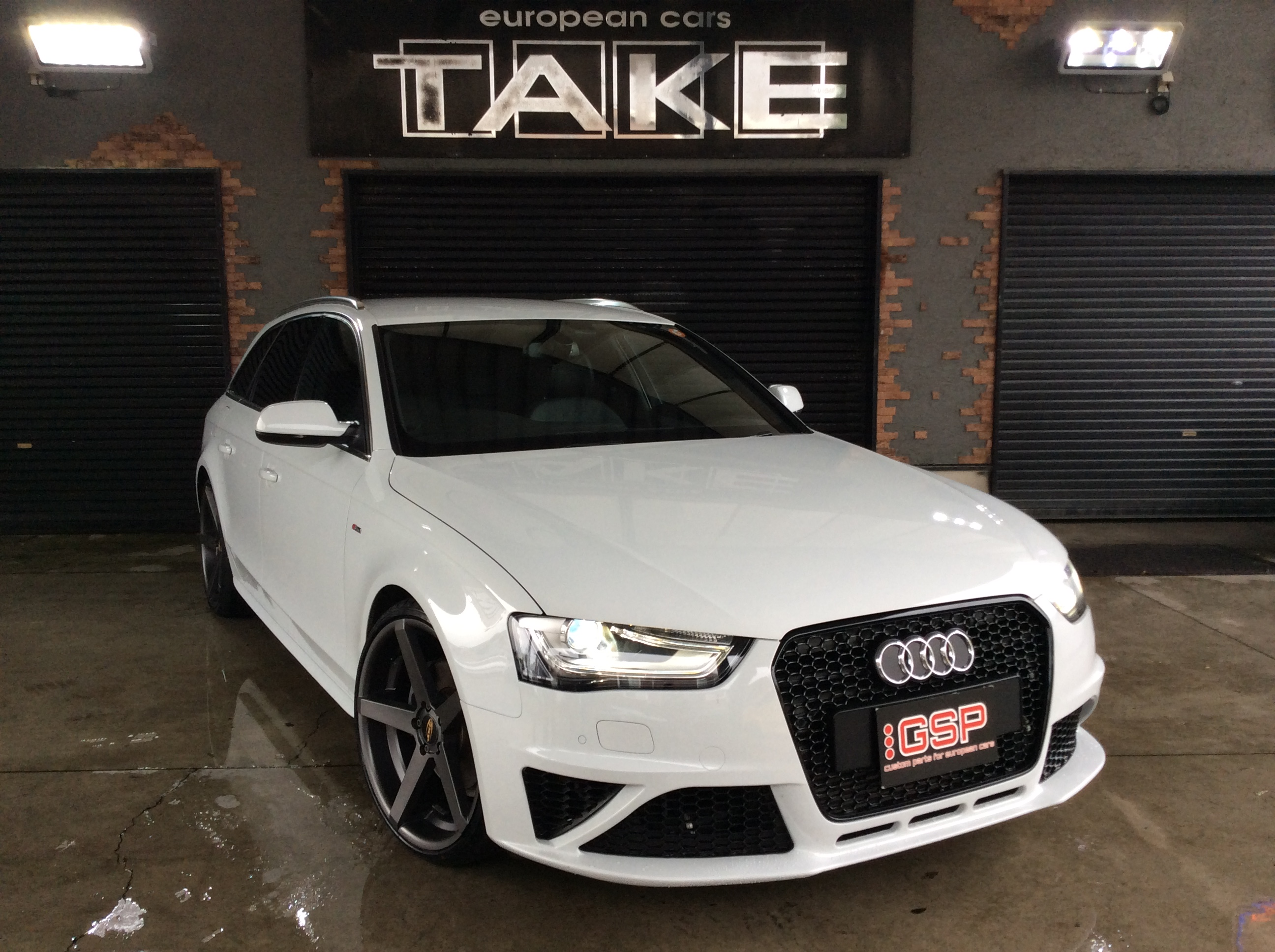 AUDI A4 S-Line RS4 Look Front Bumper KIT for PDC